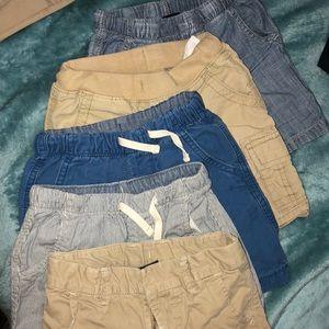 5 pairs of baby gap shorts.